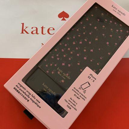 ケイトスペード Kate spade 手帳型 アイフォンケース 手帳型と単品使用可!ピンクの小花が可愛い iphone X/Xs 代引き不可【あす楽対応】