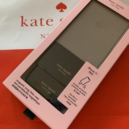 ケイトスペード Kate spade 手帳型と単品使用 バイカラーiPhone 11 PRO ブラック/ベージュ 代引き不可