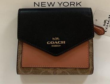コーチ COACH レディース財布 スモール ウォレット カラーブロック シグネチャー キャンバス