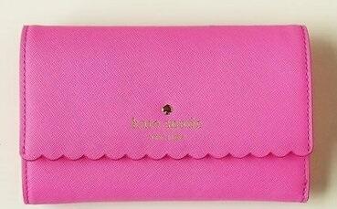 ケイトスペード レディース財布 kete spade Cape Drive 定期・カード入、 三つ折財布 ピンク系【あす楽対応】