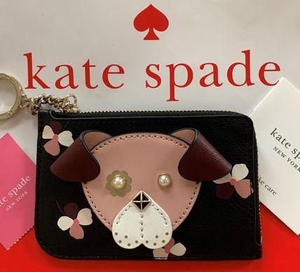 ケイトスペード  kete spade レディース ドッグモチーフ キーリング付 カードケースコインケース