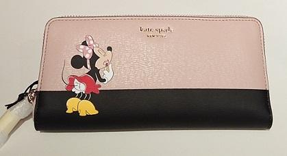 ケイトスペード レディース長財布 kete spade Minnie Mouse スリム 可愛い ベージュ ミニーマウス 【あす楽対応】