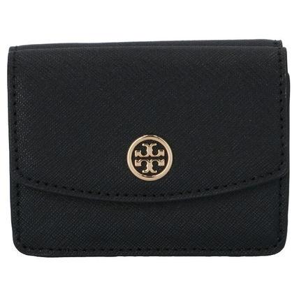 日本在庫あり 即日出荷可能レターパック 送料無料 トリーバーチ 財布 TORY ブラック 三つ折り財布 黒 BURCH ショッピング 格安 価格でご提供いたします あす楽対応 ROBINSON