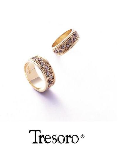 【送料込み】結婚指輪**MARRIGE RING☆Tresoro**Three-color gold crochet**01K04/01H04*k18