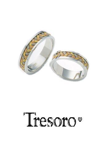 【送料込み】結婚指輪**MARRIGE RING☆Tresoro**Three-color gold crochet**63D74*k18