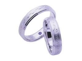 【送料込み】☆POUR de VRAI☆天使のダイヤモンド ◇ANGE**結婚指輪 K18wg