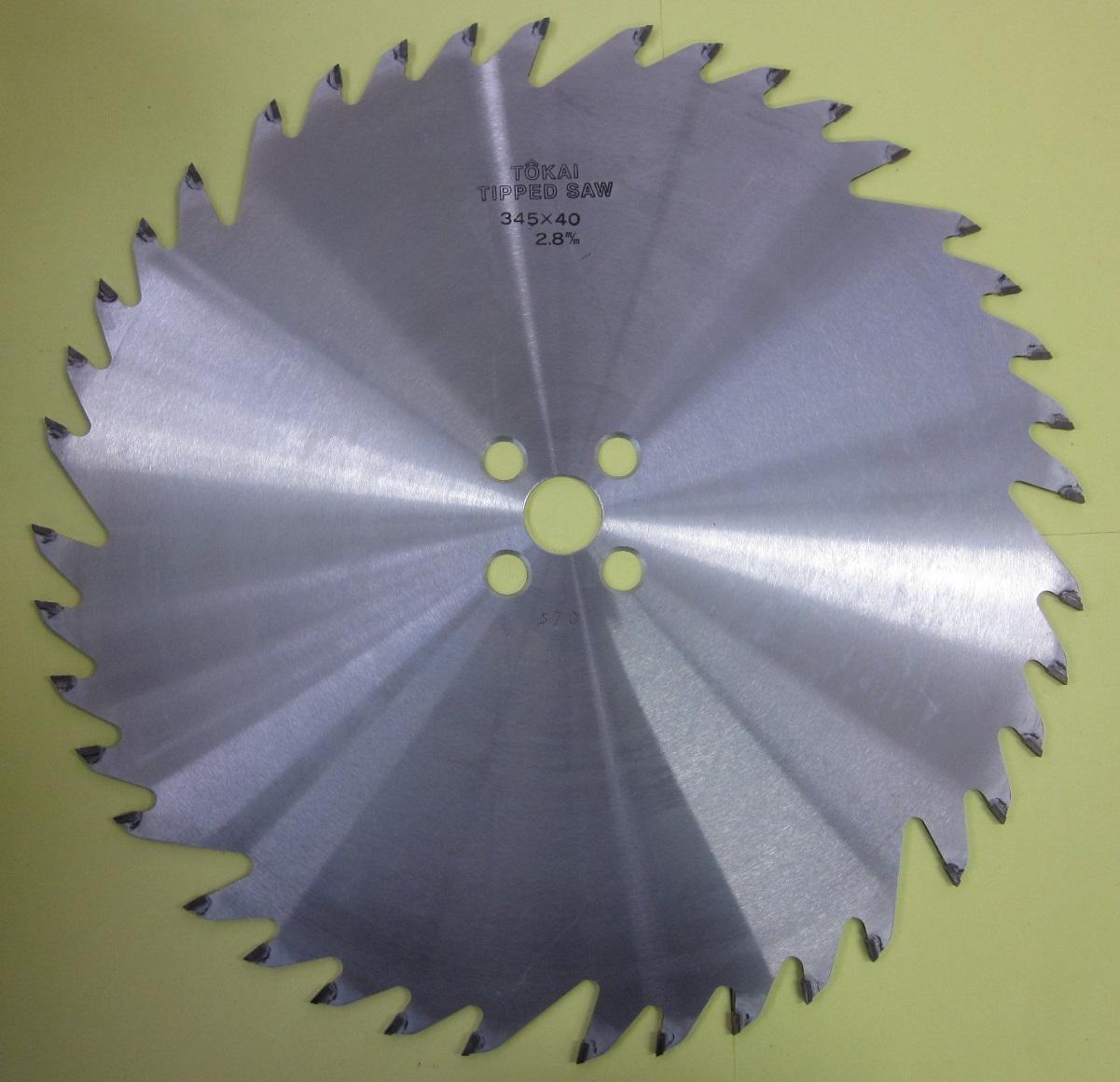 遠州丸鋸 木工用 ホゾ取りタテ345x40Px2.8mmx25.4mm 日立用