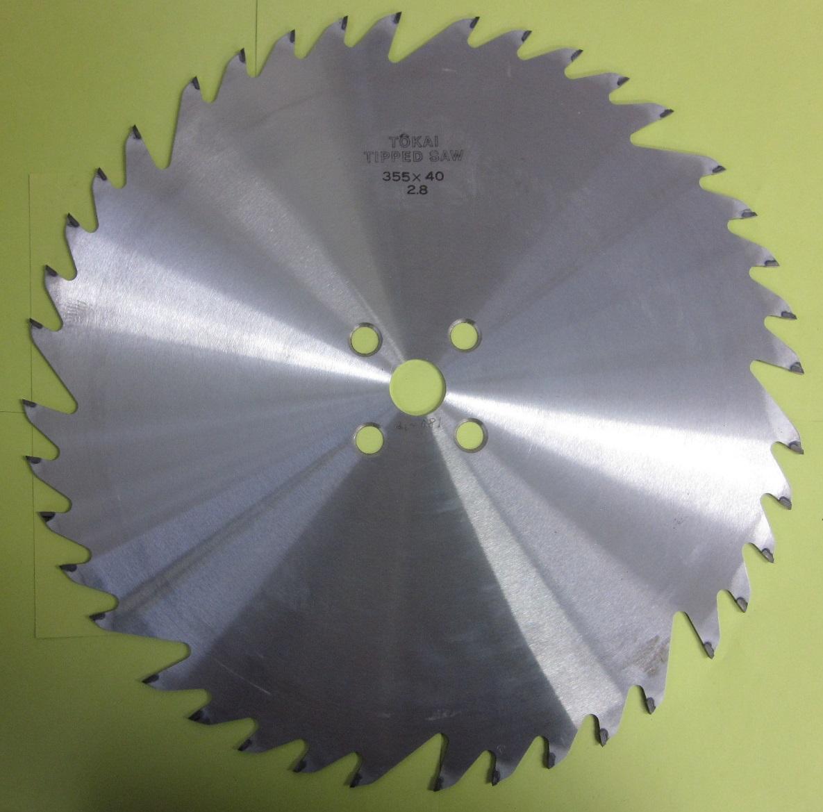 遠州丸鋸 木工用 ホゾ取りタテ355x40Px2.8mmx25.4mm リョービ用