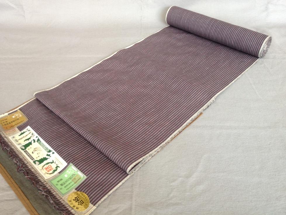 着物 着尺 本場結城紬正絹紬・手織り・縞高機おしゃれ着物送料無料