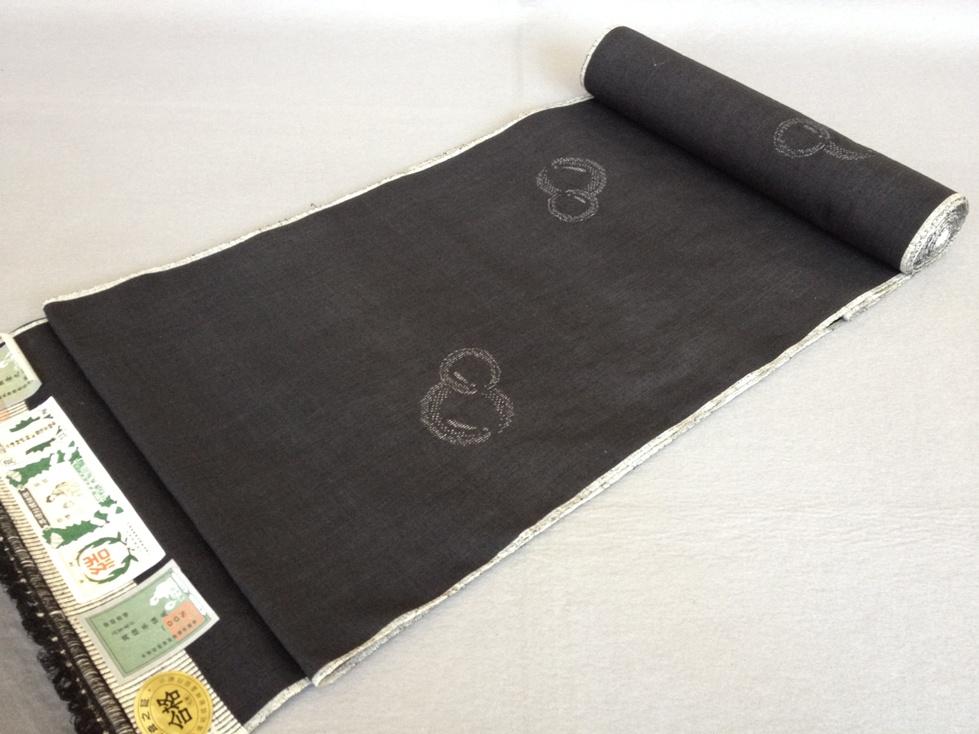 着物 着尺本場結城紬100亀甲飛び柄手織り(正絹紬/着尺)送料無料