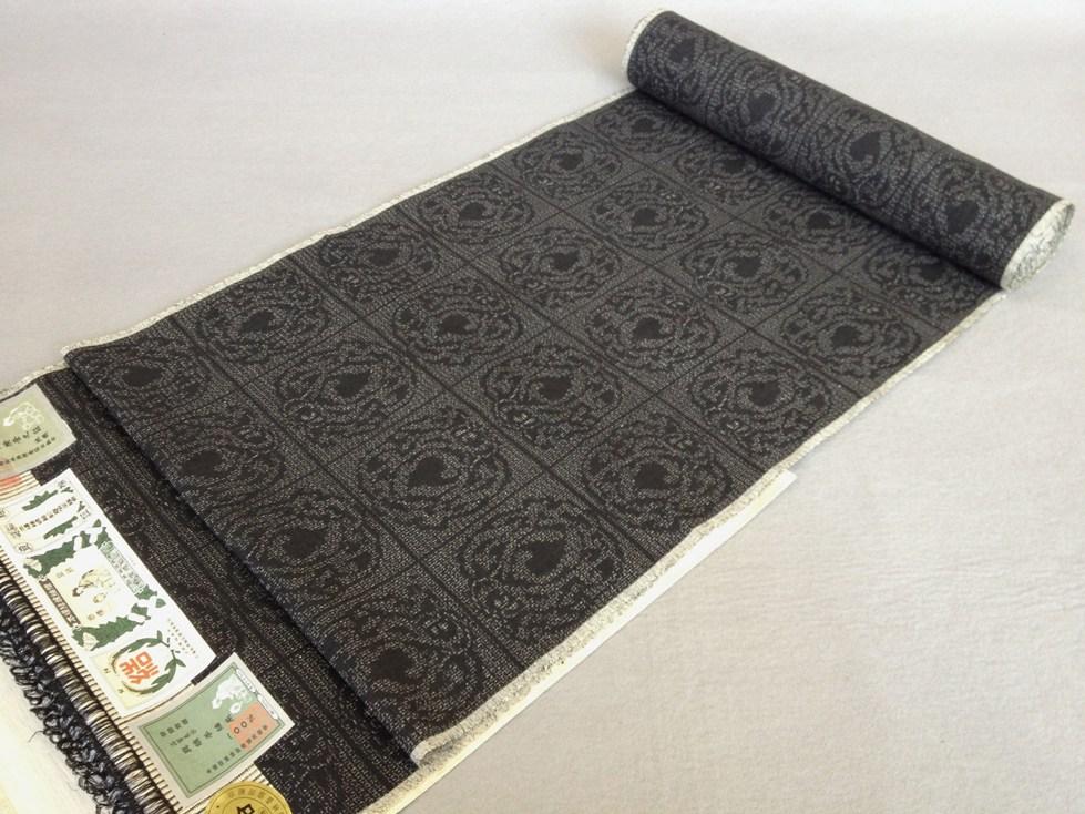 着物 着尺本場結城紬100亀甲細工物 地織手織り正絹紬/おしゃれきもの送料無料