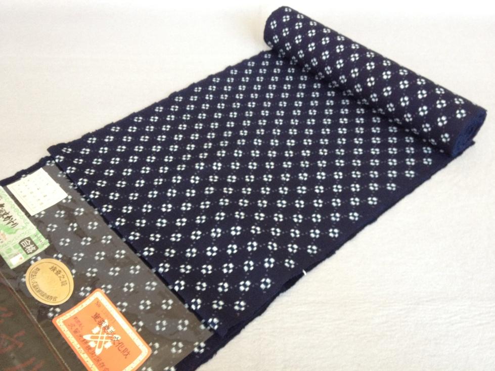着物 着尺久留米絣2代目森山虎雄 作(綿紬・手織り/おしゃれきもの送料無料