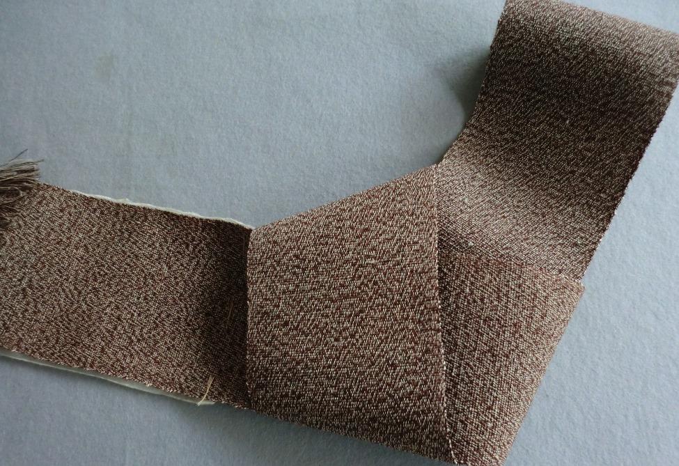 会津からむし紬 角帯いぢゃり織手うみ糸使用
