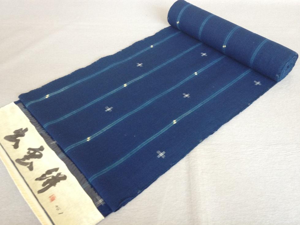 着物 着尺出雲絣手織り青戸柚美江 作綿紬・手織り/おしゃれきもの送料無料