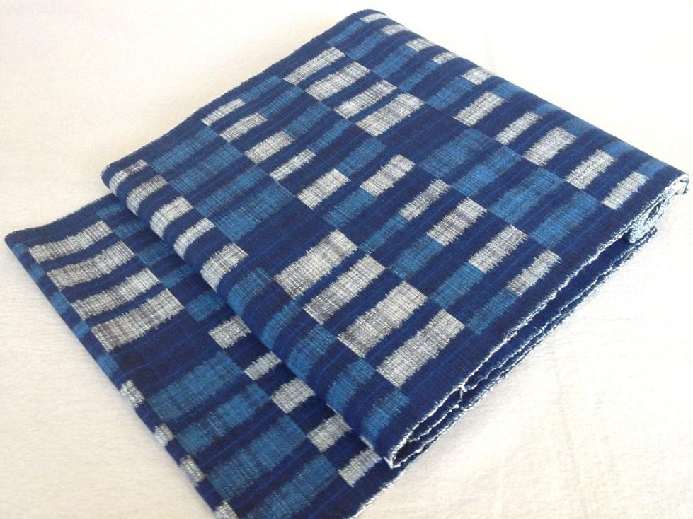 九寸なごや帯 出雲絣手織り・全通綿紬/おしゃれ帯送料無料