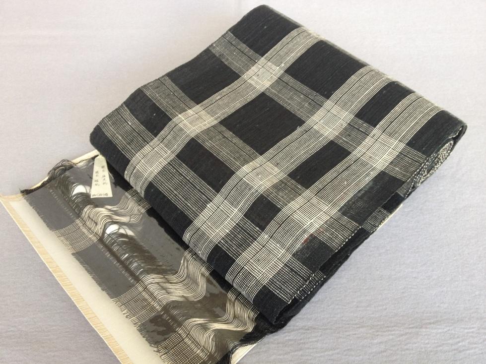 八寸なごや帯 紙布手織り・全通和紙/おしゃれ八寸帯・格子送料無料