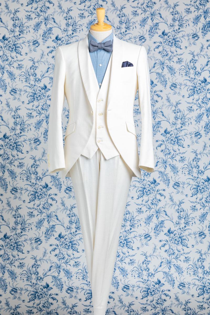 NOA2010_ホワイト ウェディング オーダー サイズオーダー 挙式 二次会 結婚式 ブライダル タキシード 海外 国内 オリジナル オーダータキシード