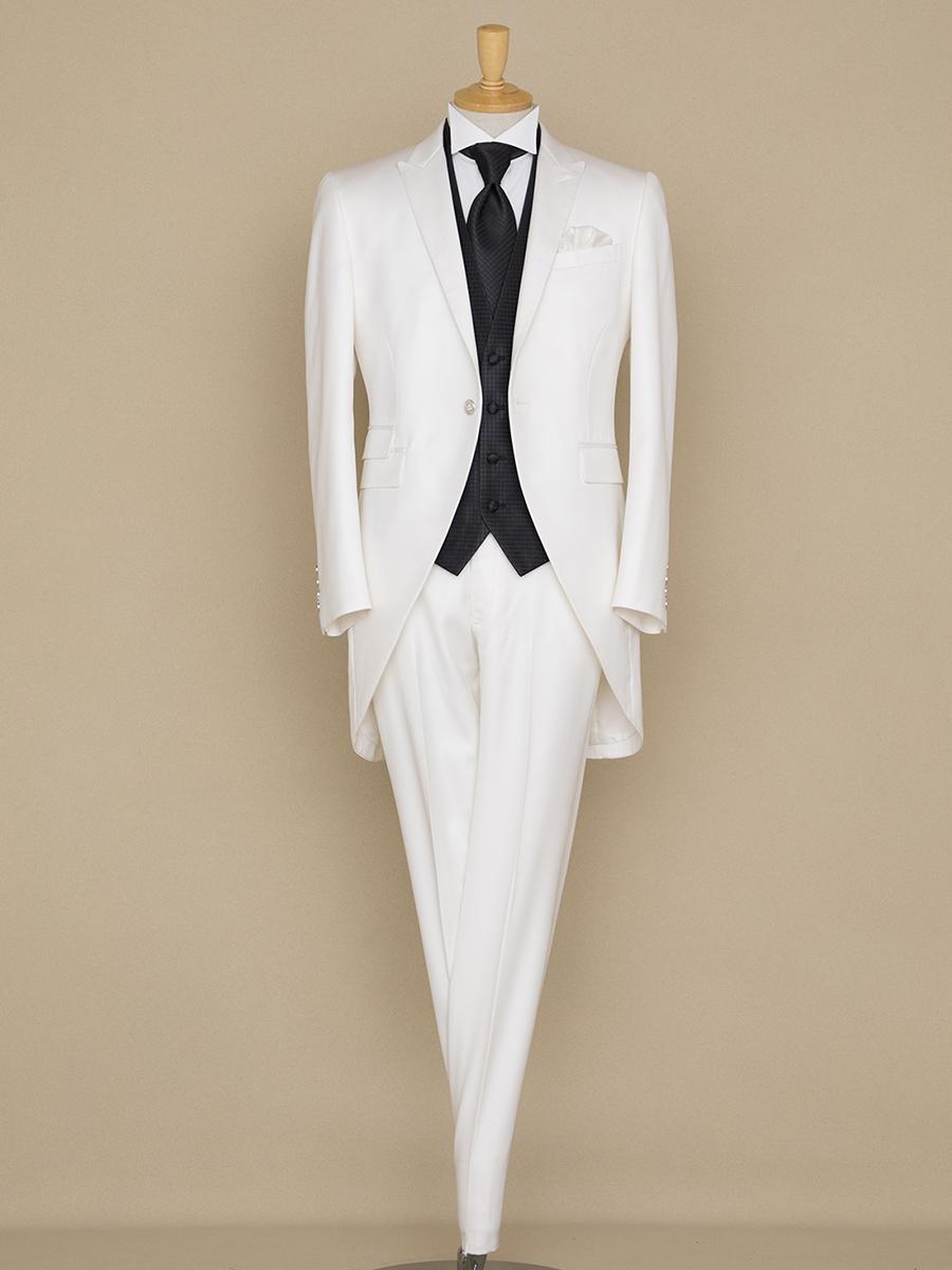 NOA2007_ホワイト  ウェディング オーダー サイズオーダー 挙式 二次会 結婚式 ブライダル タキシード 海外 国内 オリジナル オーダータキシード