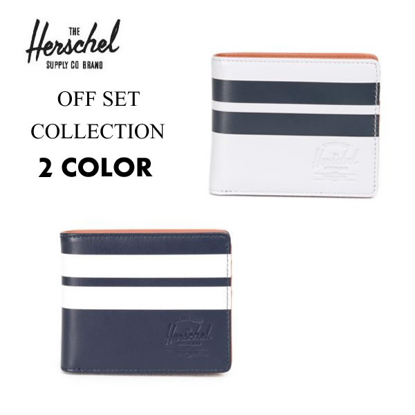 [正規品 無料ギフトラッピング可] Herschel Supply ハーシェルサプライ ハーシェル 財布 ウォレット 二つ折り / OFFSET COLLECTION / Hank + Coin Leather Wallet / 2カラー展開 ハーシェルの財布 送料無料 【t79】