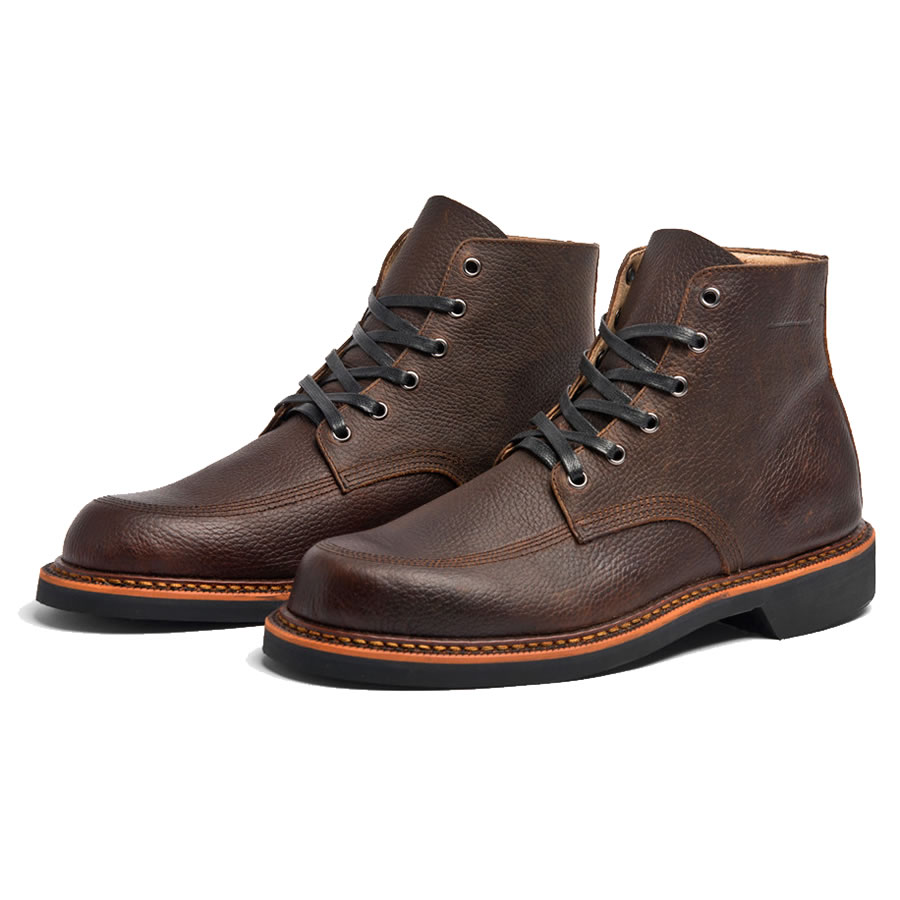BROKEN HOMME ブロークンオム / レザー ワークブーツ / DAVIS BOOTS - BROWN VINTAGE / MADE IN USA / メンズ 本革 【t79】