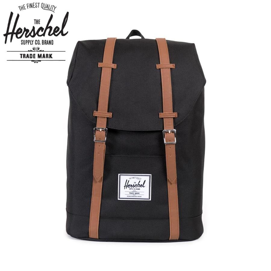 Herschel Supply ハーシェルサプライ / バックパック リュックサック 鞄 / Retreat リトリート - BLACK / 19.5L / 送料無料 ブラック 黒 メンズ レディース デイパック リュック ハーシェルのリュック 【t14】