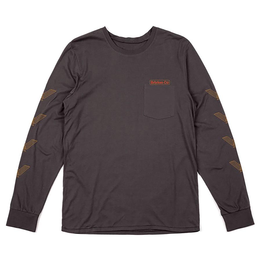 BRIXTON ( ブリクストン ) / Tシャツ 長袖 ロンT / MARON LS PKT TEE - WASHED BLACK / 06620 / メンズ / ロングスリーブ ポケット 袖プリント スケートボード スケボー アパレル サーフ ブランド カリフォルニア アメカジ BRIXTONのパーカー 【t74】