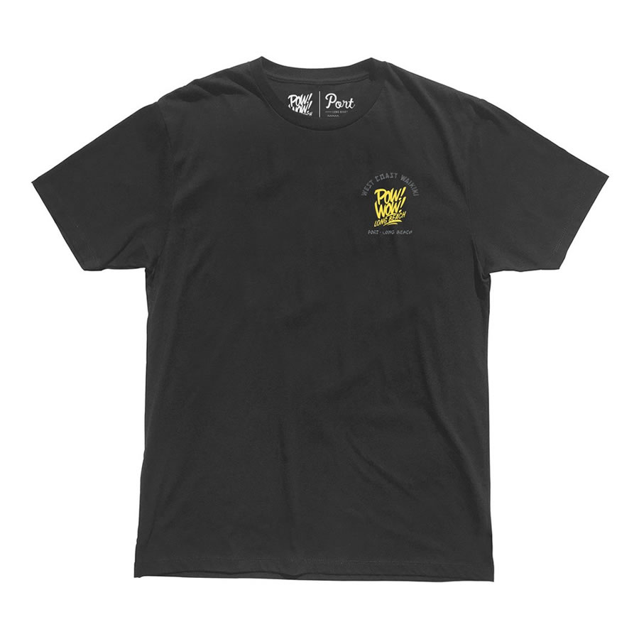 PORT LBC (ポート) / 半袖 Tシャツ / POW! WOW! & PORT TEE from RYAN MILNER - VINTAGE BLACK / メンズ PORTのTシャツ 【t74】