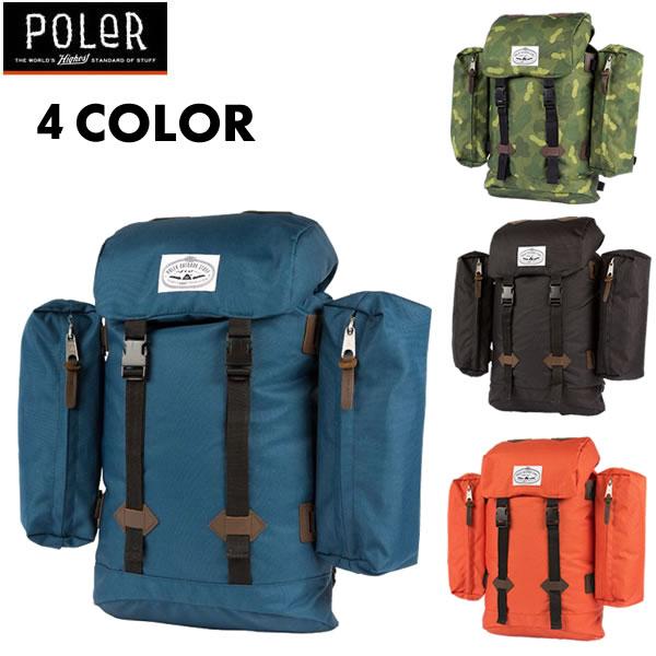 POLeR Camping Stuff(ポーラー ) リュックサック / RETRO RUCKSACK / 4カラー展開 POLERのリュック 【t79】