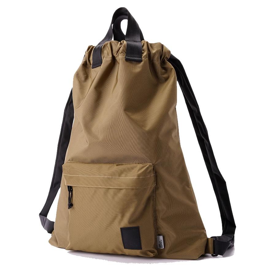 THE BROWN BUFFALO (ザブラウンバッファロー) / ナップサック バックパック 撥水 / STORMPROOF 420D / HOBO BACKPACK - COYOTE/ 通勤 通学 鞄 シンプル アウトドア BEIGE ベージュ PC A4 旅行 【t74】