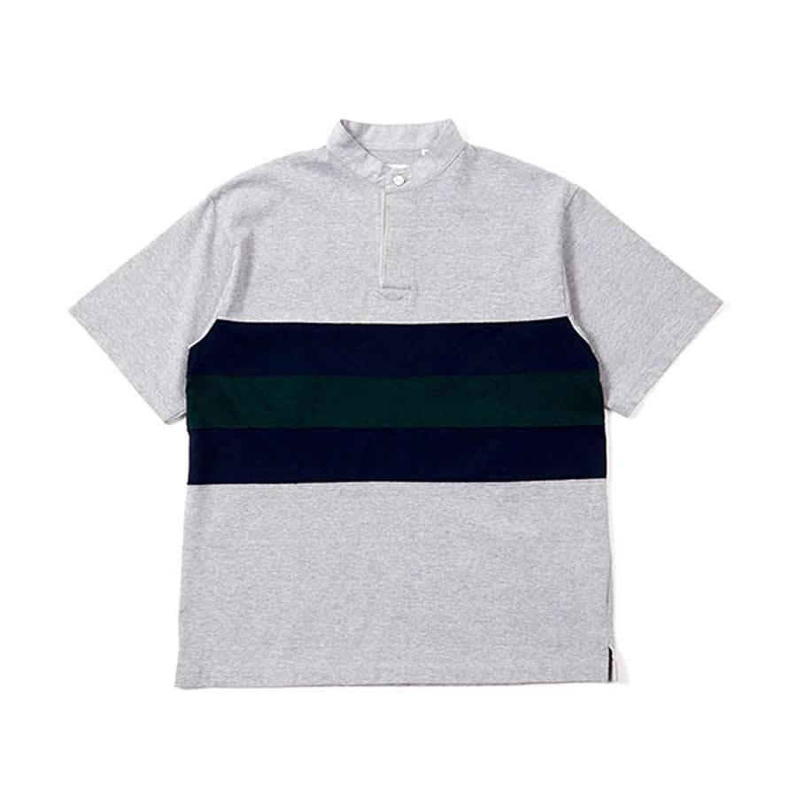 BAMBOO SHOOTS(バンブーシュート) / Tシャツ 半袖 ラグビーシャツ / PANELED RUGBY JERSEY - H.GREY / 1901010 / メンズ ラグビージャージー 送料無料  【t56】
