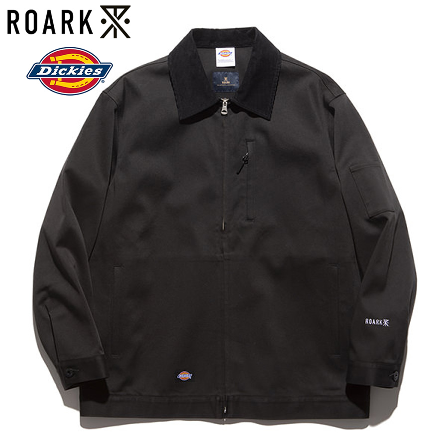 THE ROARK REVIVAL(ロアーク) / DICKIES(ディッキーズ) / コラボ ワークジャケット スイングトップ / EISENHOWER JACKET - BLACK / RJJ610-BLK / メンズ