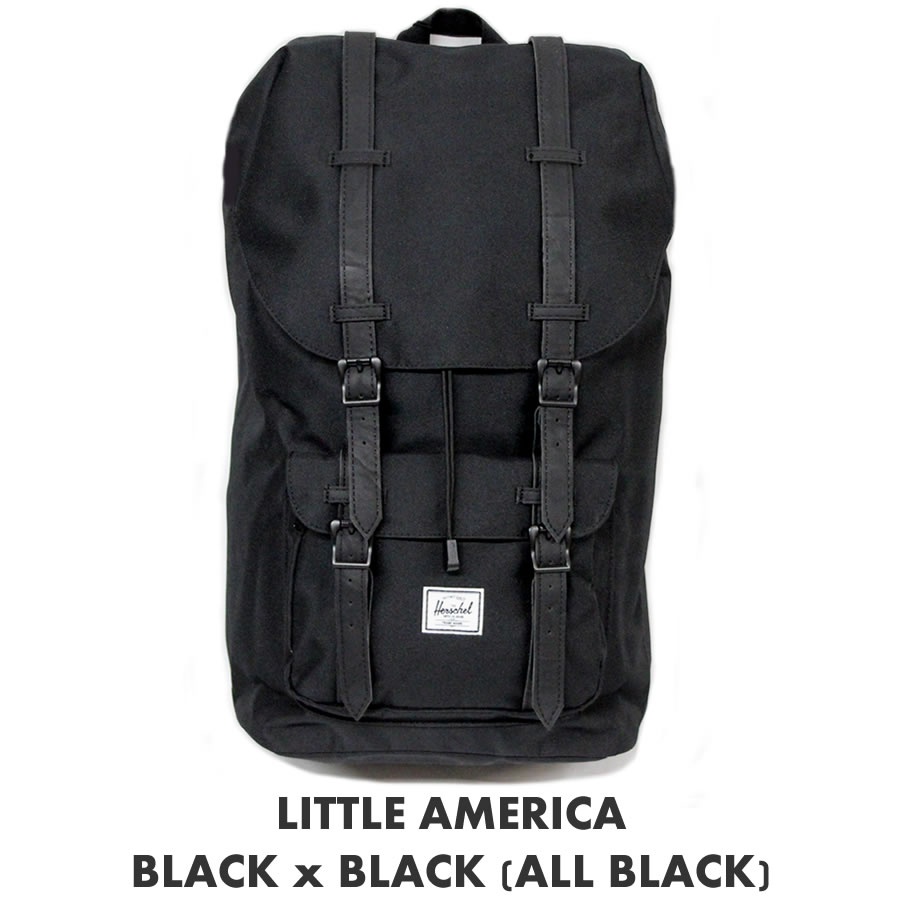94f9bd9fbd3 Herschel Supply Herschel supply backpacks Little America Rubber   little  America rubber   BLACK x BLACK ALL BLACK   Black Black   Herschel backpack