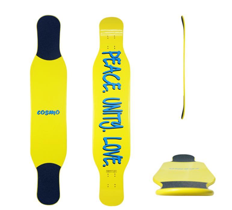 【送料無料】【FLEX:ミディアム】【ロンスケ】【スケボー】【デッキ】COSMO Longboard GROOVIE DANCER 46 Yellow DECK 1枚【コスモ】【ダンサー】【バンブー】【46インチ/117cm】【ロングスケート】【スケボーロング】