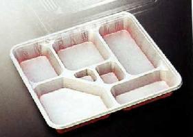 [送料無料/業務用] 1段 使い捨て弁当容器DX仕切-6 透明の蓋付きセット 200個入り弁当(お弁当)のテイクアウトにプラスチックの弁当箱(お弁当箱/使い捨て弁当箱/弁当容器/弁当パック/お弁当パック/惣菜パック/おかず入れ) 激安の使い捨て容器(入れ物)【smtb-F】