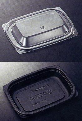 [業務用]プラスチックの使い捨て惣菜容器(総菜容器)CTデリカン15-11黒本体(四角)透明蓋付きセット1200個入りシンプルでおしゃれなおかず入れです。(お惣菜/おかず/デザート/フルーツ)に。電子レンジ対応(食品用/容器/器/うつわ/入れ物/包材)【smtb-F】