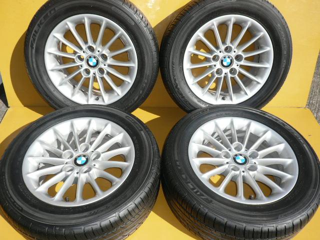 【中古】送料無料日本製BMW5シリーズアルミホイール+日本製タイヤ225/55R16