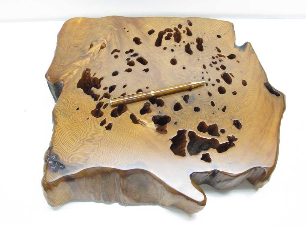 ~天然木の花台・敷台(A)~仕様:無垢/ 素材:屋久杉