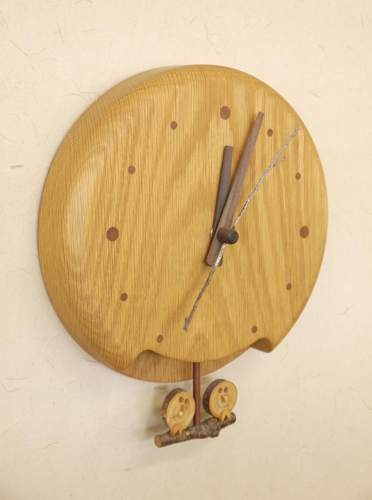 ~木の時計~仕様:無垢 / 素材:たも