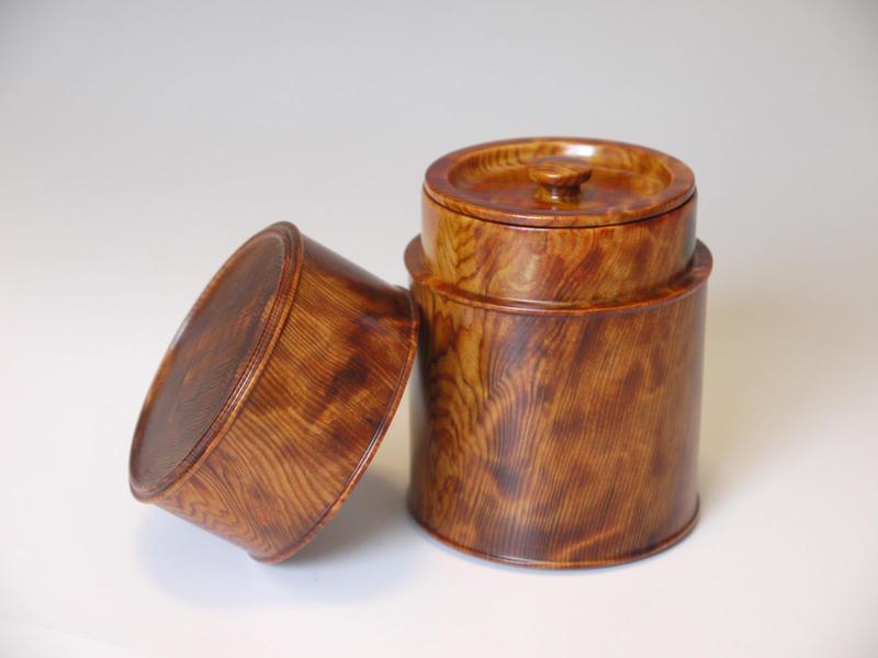 ~茶筒~仕様:無垢 / 素材:屋久杉(油瘤)