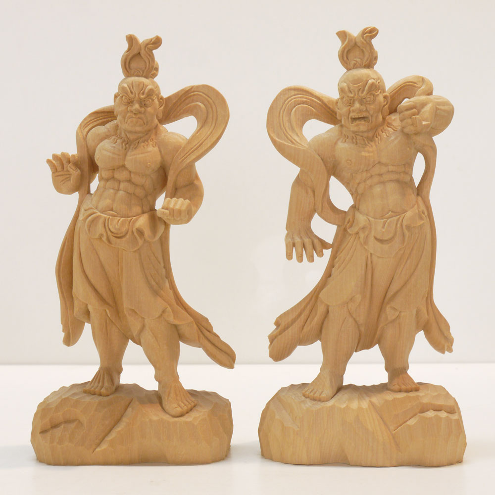 ~木彫り 仏像 仁王像(金剛力士)~一刀彫 / 素材:香榧