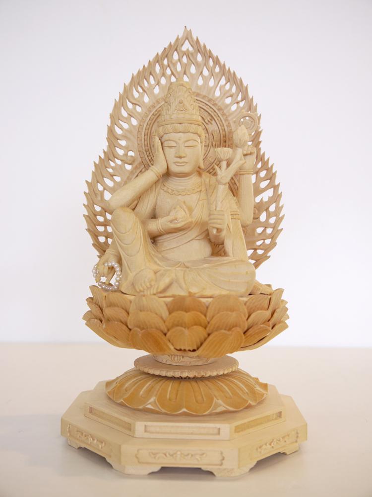 ~木彫り 仏像 観音様~仕様:無垢 / 素材:ひのき