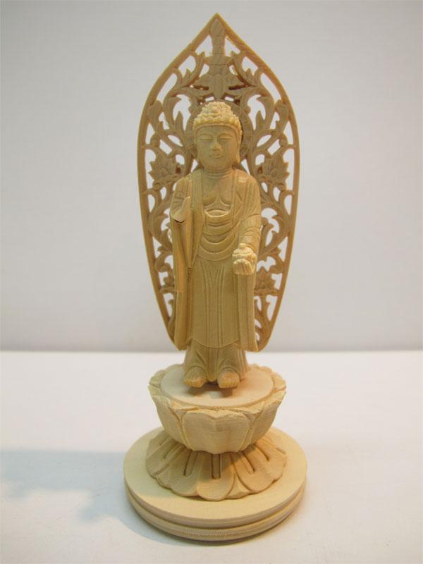 ~木彫り 仏像 薬師如来~仕様:無垢 / 素材:桧(置物)
