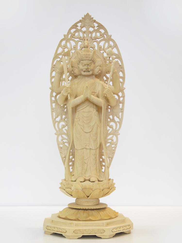 ~木彫り 仏像 馬頭観音~仕様:無垢 / 素材:拓植