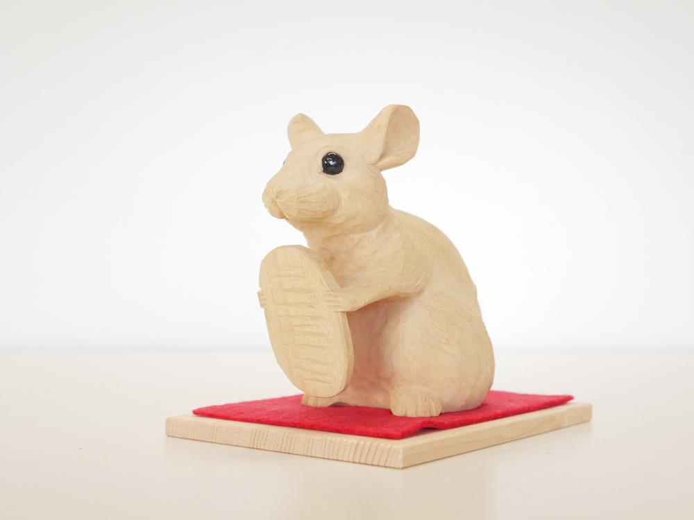 ~木彫り 子~一刀彫 / 素材:楠