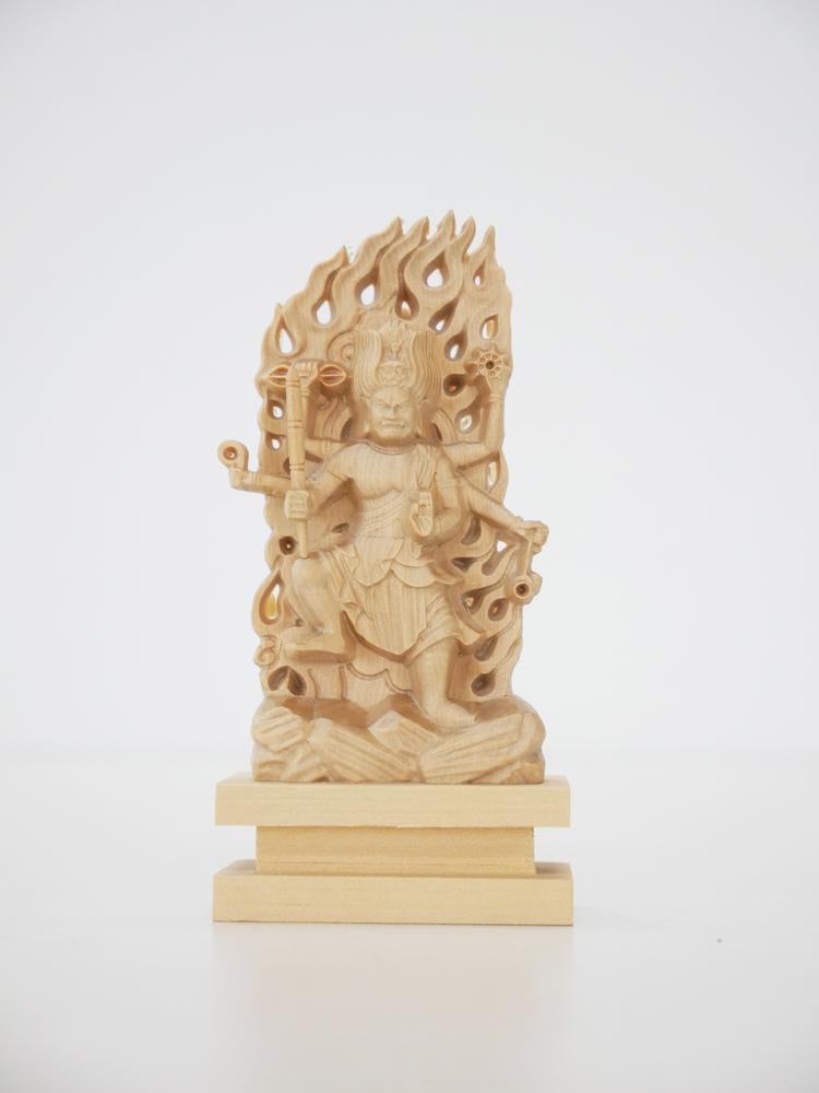 ~木彫り 仏像 烏枢沙摩明王~仕様:無垢 / 素材:柘植(置物)
