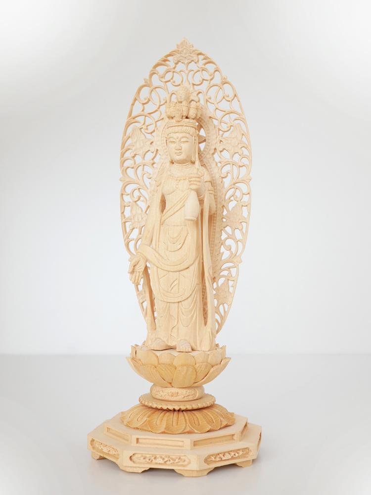 ~木彫り 仏像 十一面観音~仕様:無垢 / 素材:桧