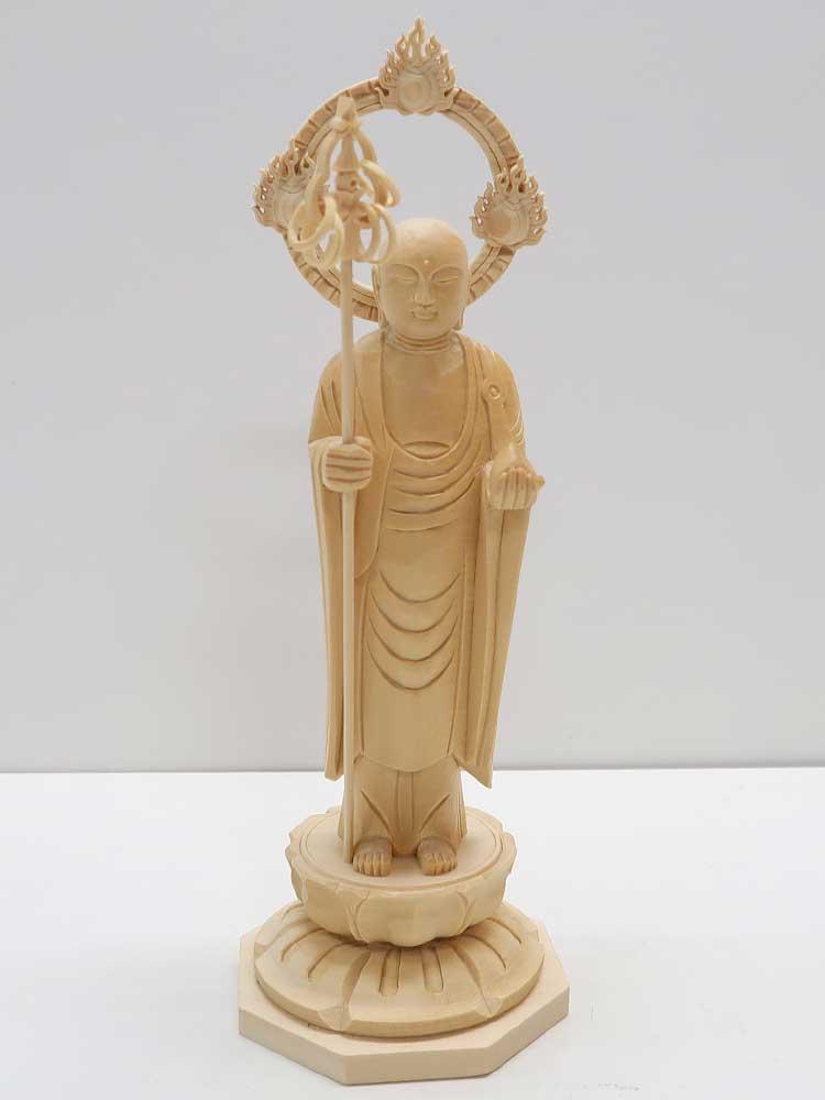 ~木彫り 仏像 お地蔵様~仕様:無垢 / 素材:桧