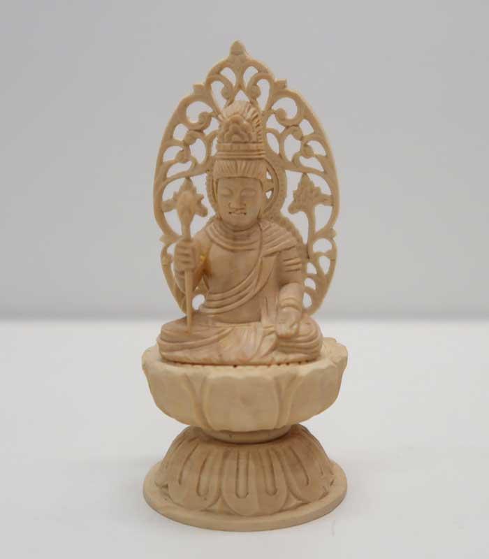 ~木彫り 仏像 勢至菩薩~仕様:無垢 / 素材:柘植(置物)
