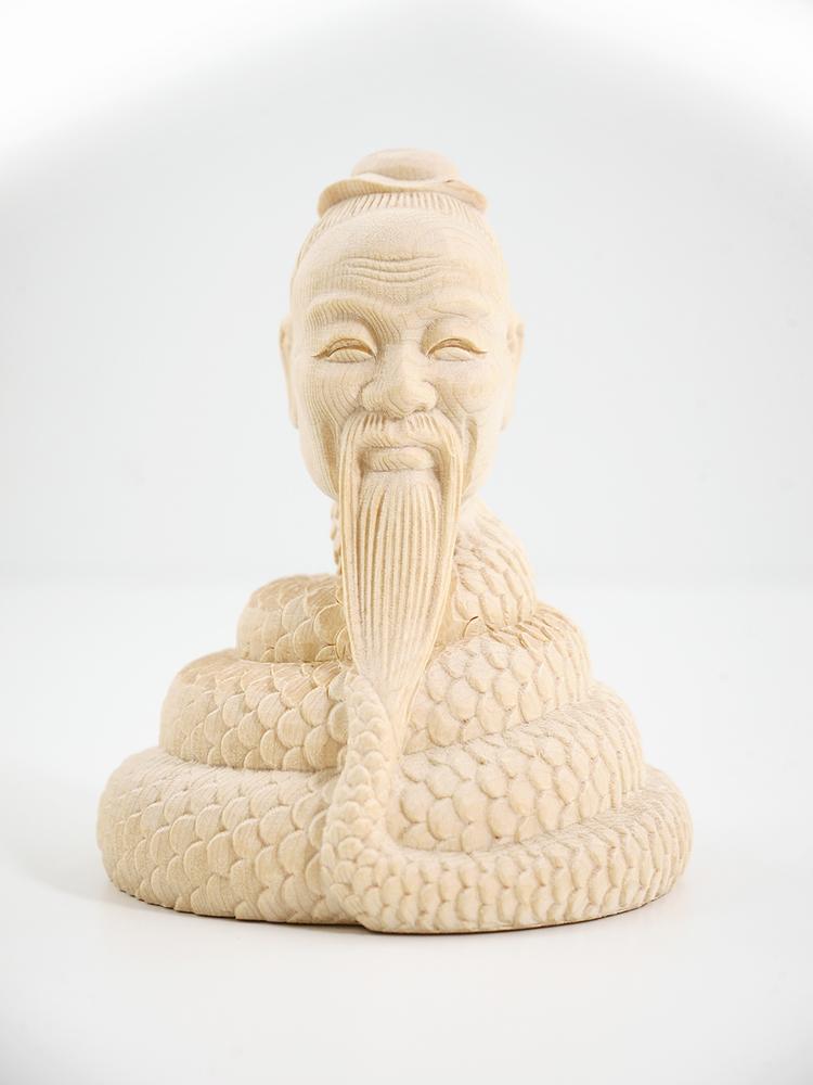 ~木彫り 仏像 宇賀神~仕様:無垢 / 素材:桧