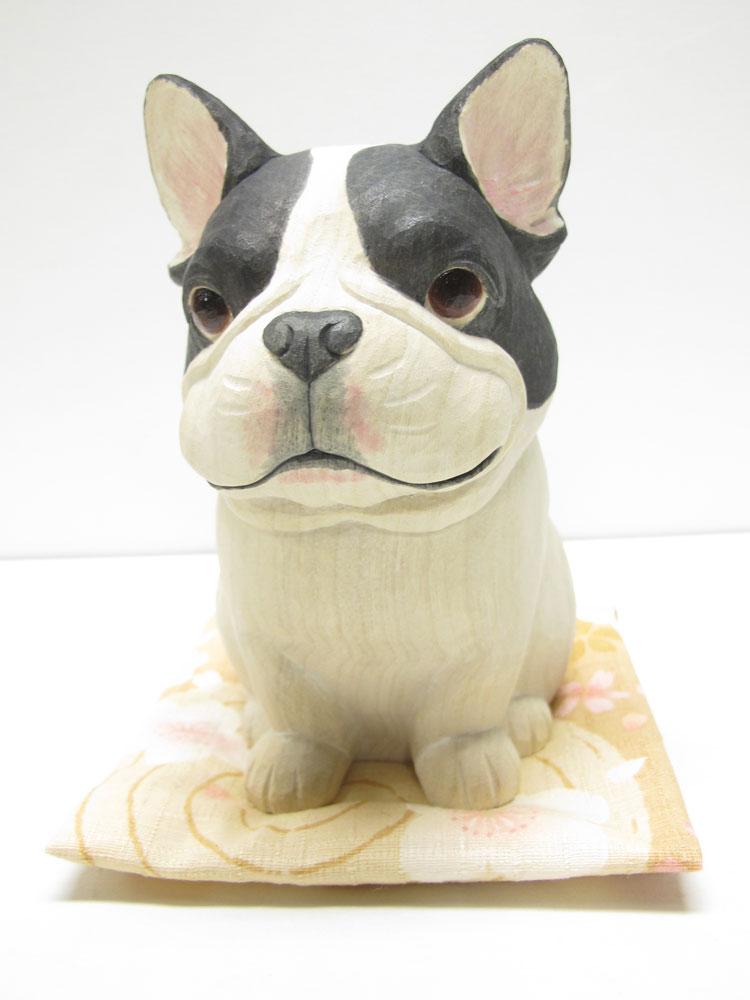~木彫り 犬~仕様:無垢 / 素材:楠